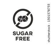 Isolated Sugar Free Icon Vecto...