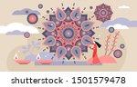 diwali hindu traditional... | Shutterstock .eps vector #1501579478