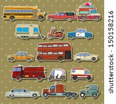cars and transportation sticker ... | Shutterstock .eps vector #150158216