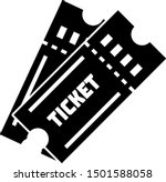 black ticket icon isolated on... | Shutterstock .eps vector #1501588058