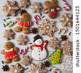 Christmas Square Card With...