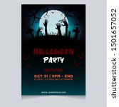 halloween party poster...   Shutterstock .eps vector #1501657052