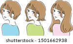 the type of hairstyle.there are ...   Shutterstock .eps vector #1501662938