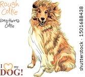 Vector Sketch Of Sweet Dog...