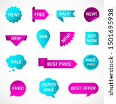 vector stickers  price tag ... | Shutterstock .eps vector #1501695938