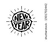 happy new year circular... | Shutterstock .eps vector #1501702442