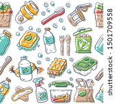 eco products vector seamless... | Shutterstock .eps vector #1501709558