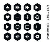 16 media player control button...