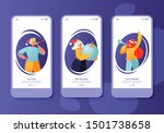 screen set collection for... | Shutterstock .eps vector #1501738658