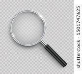 realistic magnifying glass with ... | Shutterstock .eps vector #1501747625