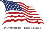 american flag vector in colors | Shutterstock .eps vector #1501751018