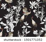 seamless pattern hand drawn... | Shutterstock .eps vector #1501771352