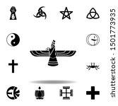 religion symbol  faravahar icon.... | Shutterstock .eps vector #1501773935