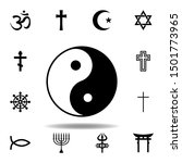 religion symbol  yin yang icon. ...