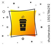 black coffee cup icon isolated... | Shutterstock . vector #1501786292