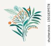 beautiful vector flower... | Shutterstock .eps vector #1501839578