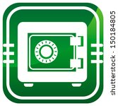 metal safe green icon. security ... | Shutterstock .eps vector #150184805