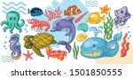 Sea Life Vector Set. Vector...