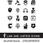 law and justice icons set 4.   Shutterstock .eps vector #1501858505