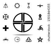religion symbol  paganism icon. ...