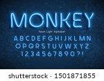 neon light 3d alphabet  extra... | Shutterstock .eps vector #1501871855