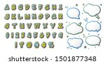 comics font  kid's alphabet in... | Shutterstock .eps vector #1501877348