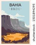 Bahia Retro Poster. Bahia...