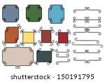 set of vintage frames and... | Shutterstock .eps vector #150191795