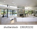 sunken seating area and exposed ... | Shutterstock . vector #150192152