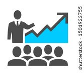 business presentation growth... | Shutterstock .eps vector #1501923755