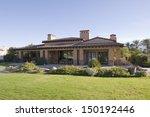sunlit garden exterior of home...   Shutterstock . vector #150192446