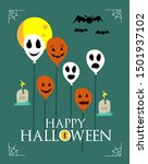 happy halloween banner or... | Shutterstock .eps vector #1501937102