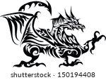 dragon tattoos. | Shutterstock .eps vector #150194408