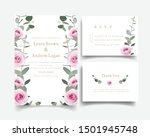 wedding invitation with floral... | Shutterstock .eps vector #1501945748