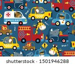 seamless pattern of vehicles... | Shutterstock .eps vector #1501946288