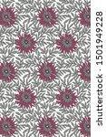textile flower art pattern... | Shutterstock . vector #1501949228