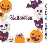 halloween funny character... | Shutterstock .eps vector #1501951892