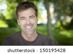 close up of a man smiling | Shutterstock . vector #150195428
