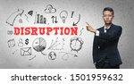 asian businessman pointing ... | Shutterstock . vector #1501959632