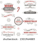 red christmas design vintage... | Shutterstock .eps vector #1501964885