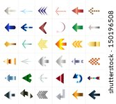 arrow icon set | Shutterstock .eps vector #150196508