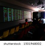 Small photo of Kaohsiung, Taiwan - August 29, 2019: Investors in the seat to monitor the stock exchange rate to grasp the status quo