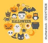 halloween funny character... | Shutterstock .eps vector #1501973828