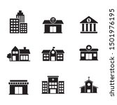 set of building related icon... | Shutterstock .eps vector #1501976195