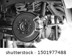 disc brake of the vehicle for... | Shutterstock . vector #1501977488