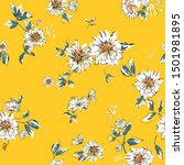 seamless floral pattern with... | Shutterstock .eps vector #1501981895