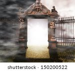 Gate Gothic Fantasy Background