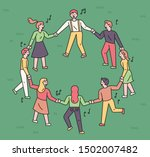 people are holding hands and... | Shutterstock .eps vector #1502007482