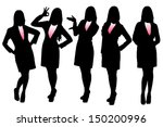 silhouettes of business woman...   Shutterstock .eps vector #150200996