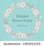 elegant botanical frame hand...   Shutterstock .eps vector #1502013155